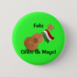Feliz Cinco de Mayo! 6 Cm Round Badge