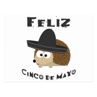 Feliz Cinco De Mayo Hedgehog Postcard
