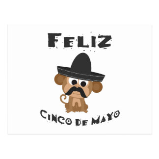Feliz Cinco De Mayo Monkey Postcard