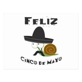 Feliz Cinco De Mayo Snail Postcard