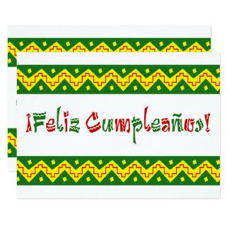 feliz cumpleanos arriba 9 cm x 13 cm invitation card