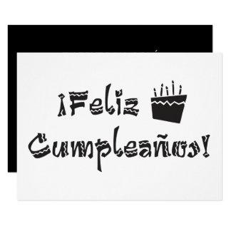 feliz cumpleanos arriba cake 9 cm x 13 cm invitation card