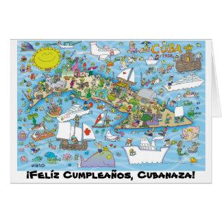 ¡Felíz Cumpleaños, Cubanaza! Card