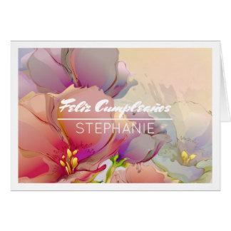 Feliz Cumpleaños Custom Name Birthday Cards