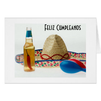 FELIZ CUMPLEANOS - DISFRUTAR - ENJOY BIRTHDAY CARD