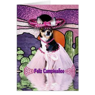 Feliz Cumpleaños (Happy Birthday) Chihuahua Greeting Cards