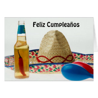 FELIZ CUMPLEANOS-HAPPY BIRTHDAY SPANISH CARD