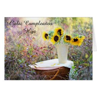 Feliz Cumpleaños Hija Sunflower Card