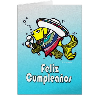 FELIZ CUMPLEAÑOS mexican fish funny Birthday Card