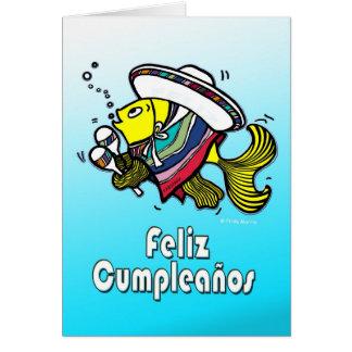 FELIZ CUMPLEAÑOS spanish funny mexican fish bday Card