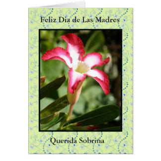 Feliz Dia de las Madres Sobrina Card