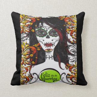 Feliz dia de Los Muertos DOD Throw Pillow