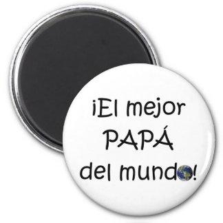 ¡Feliz día del padre - para el mejor! 6 Cm Round Magnet
