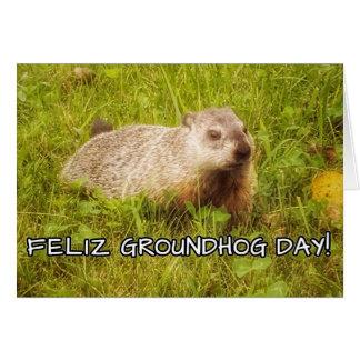 Feliz Groundhog Day! Card