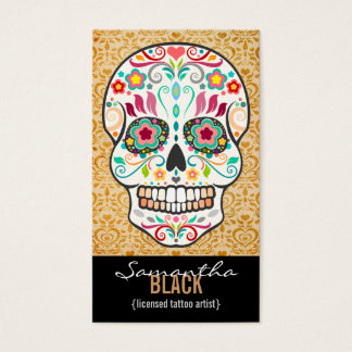 Feliz Muertos - Custom Sugar Skull Vertical Card
