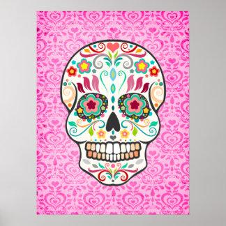 Feliz Muertos - Festive Sugar Skull Art Poster
