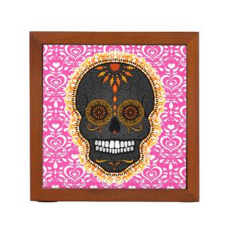 Feliz Muertos - Festive Sugar Skull Desk Organizer