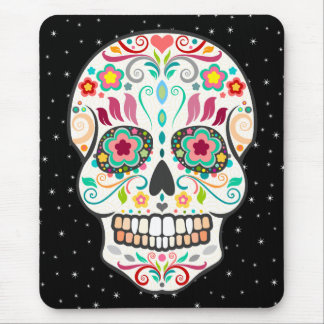 Feliz Muertos - Festive Sugar Skull Mousepad