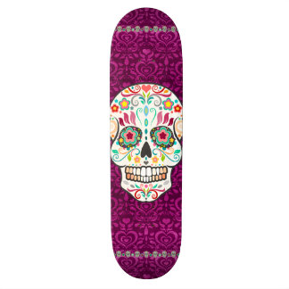 Feliz Muertos - Festive Sugar Skull 19.7 Cm Skateboard Deck