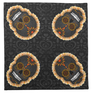 Feliz Muertos - Festive Sugar Skulls Cloth Napkins