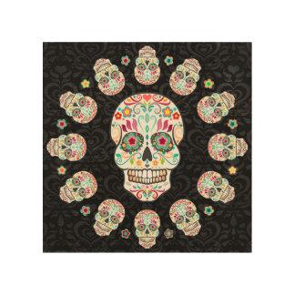 Feliz Muertos - Festive Sugar Skulls Wood Wall Art