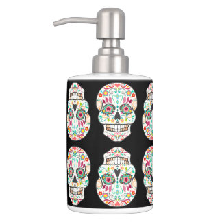 Feliz Muertos - Happy Sugar Skull Pattern Bath Set