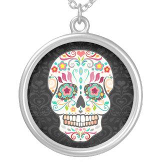 Feliz Muertos - Happy Sugar Skull Pendant Necklace