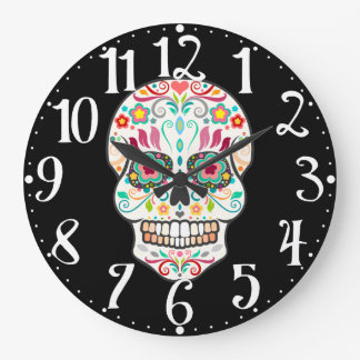 Feliz Muertos - Happy Sugar Skull Wall Clock
