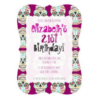 """Feliz Muertos - Sugar Skull Custom Invitations 5"""" X 7"""" Invitation Card"""