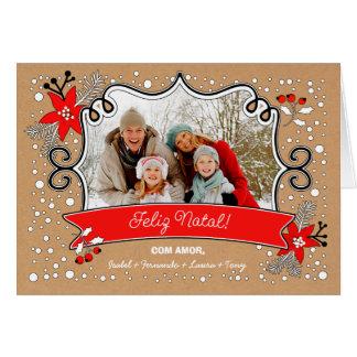 Feliz Natal. Portuguese Christmas Photo Cards