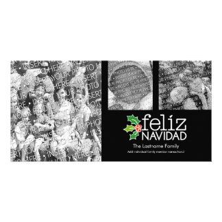 Feliz Navidad - 3 photo collage Card
