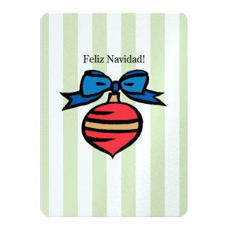 Feliz Navidad 5 x 7 Pearl Shimmer Green Card