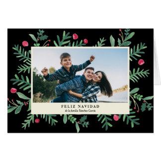 Feliz Navidad Acuarela | Tarjeta de Navidad Card