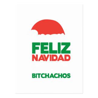 Feliz Navidad Bitchachos Postcard
