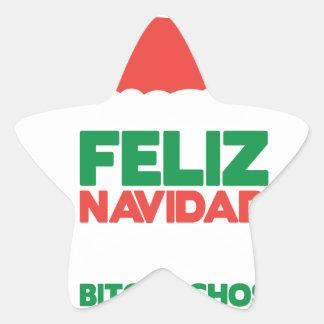 Feliz Navidad Bitchachos Star Sticker