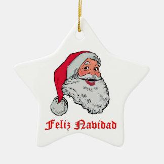 Feliz Navidad Ceramic Ornament
