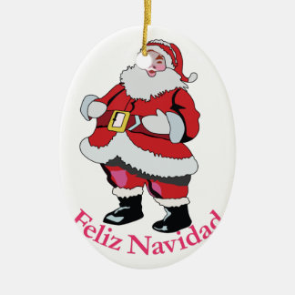Feliz Navidad Ceramic Oval Decoration