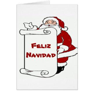 Feliz Navidad Christmas Santa Card