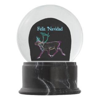 Feliz Navidad - Electric Caribou Snow Globe