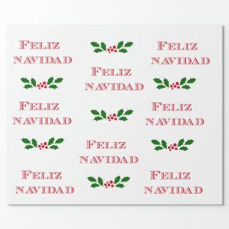 Feliz Navidad gift wrap