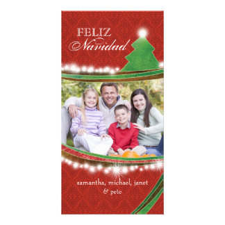 Feliz Navidad Joyous Christmas Family Photo Photo Card Template