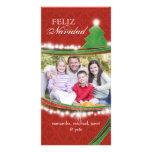 Feliz Navidad Joyous Christmas Family Photocards Photo Card