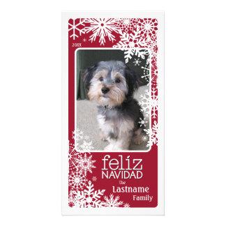 Feliz Navidad -  Let It Snow! Custom Photo Card