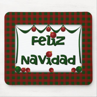Feliz Navidad - Merry Christmas Holiday Mousepad