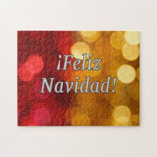 ¡Feliz Navidad! Merry Christmas in Spanish wf Jigsaw Puzzle