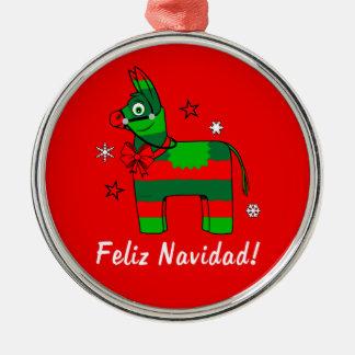 Feliz Navidad! Metal Ornament