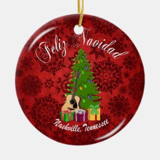 Feliz Navidad Nashville Christmas Ornament