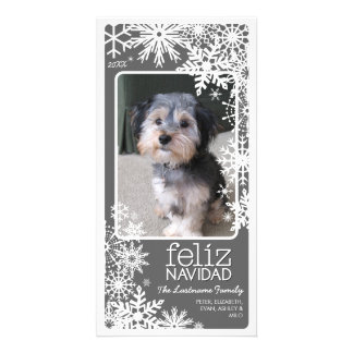 Feliz Navidad Photo Card: Let It Snow! Card