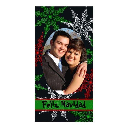Feliz Navidad Photo Christmas Card Template Picture Card