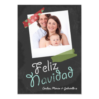 Feliz Navidad Photo Frame And Colorful Tape Card